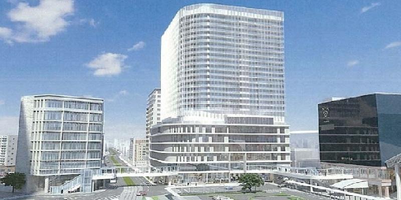 鹿児島中央タワービル完成予想図